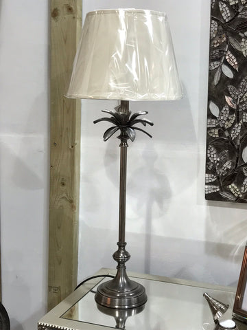 Tall Metal Palm Lamp With Shade - Global Trading
