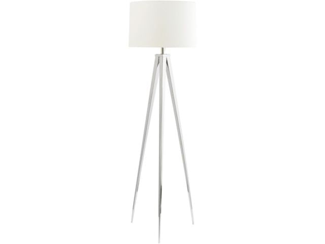 Chrome Tripod Floor Lamp - Global Trading