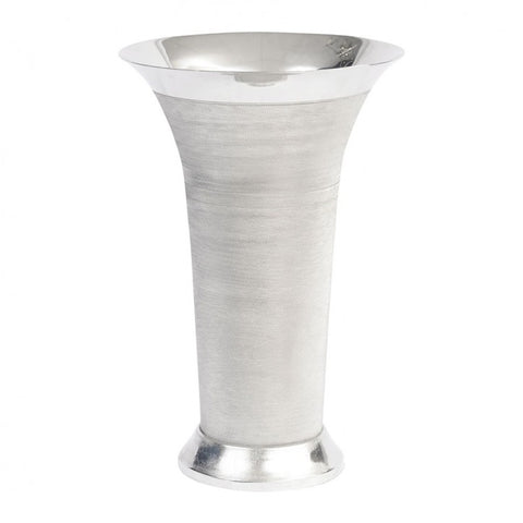 Large Silver Spun Flared Vase - Global Trading