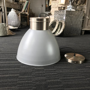 Grey Enamel Pendant Light - Global Trading