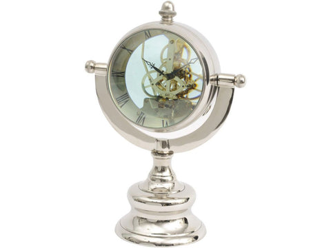 Oversized Nickel Table Clock - Global Trading