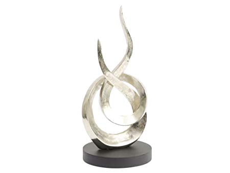Silver Flame Sculpture - Global Trading