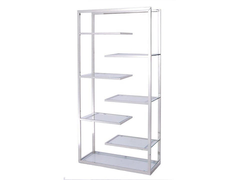 Stainless Steel And Glass Display Unit