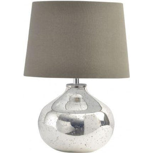 Antique Silver Glass Lamp - Global Trading