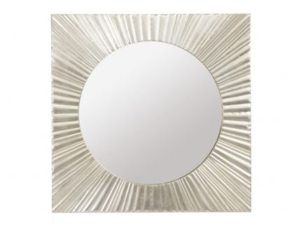 Silver Starburst Mirror - Global Trading