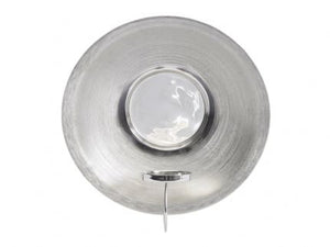Silver Spun Wall Sconce - Global Trading