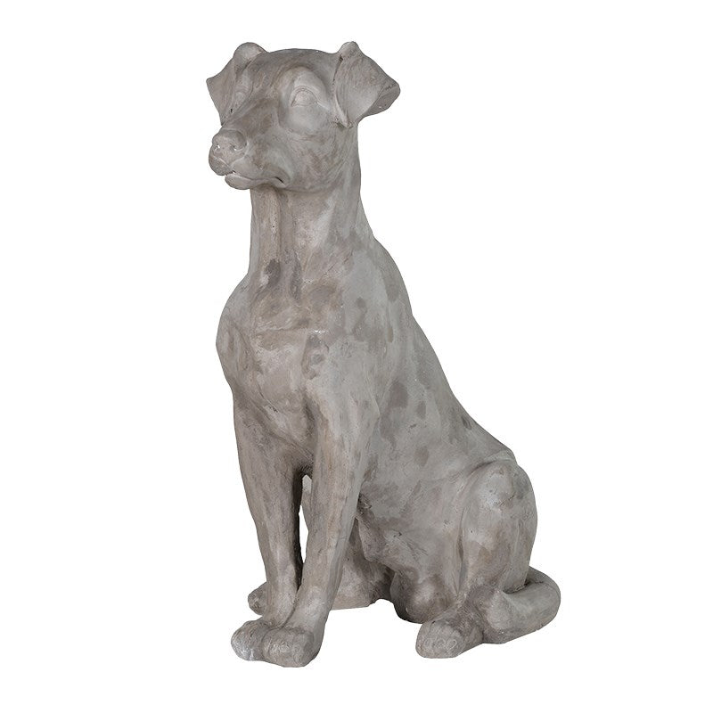Grey Sitting Dog - Global Trading