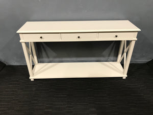 Cream Wooden Console Table - Global Trading