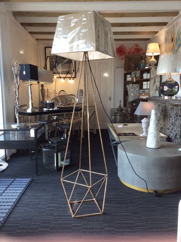Platonic Floor Lamp With Shade - Global Trading