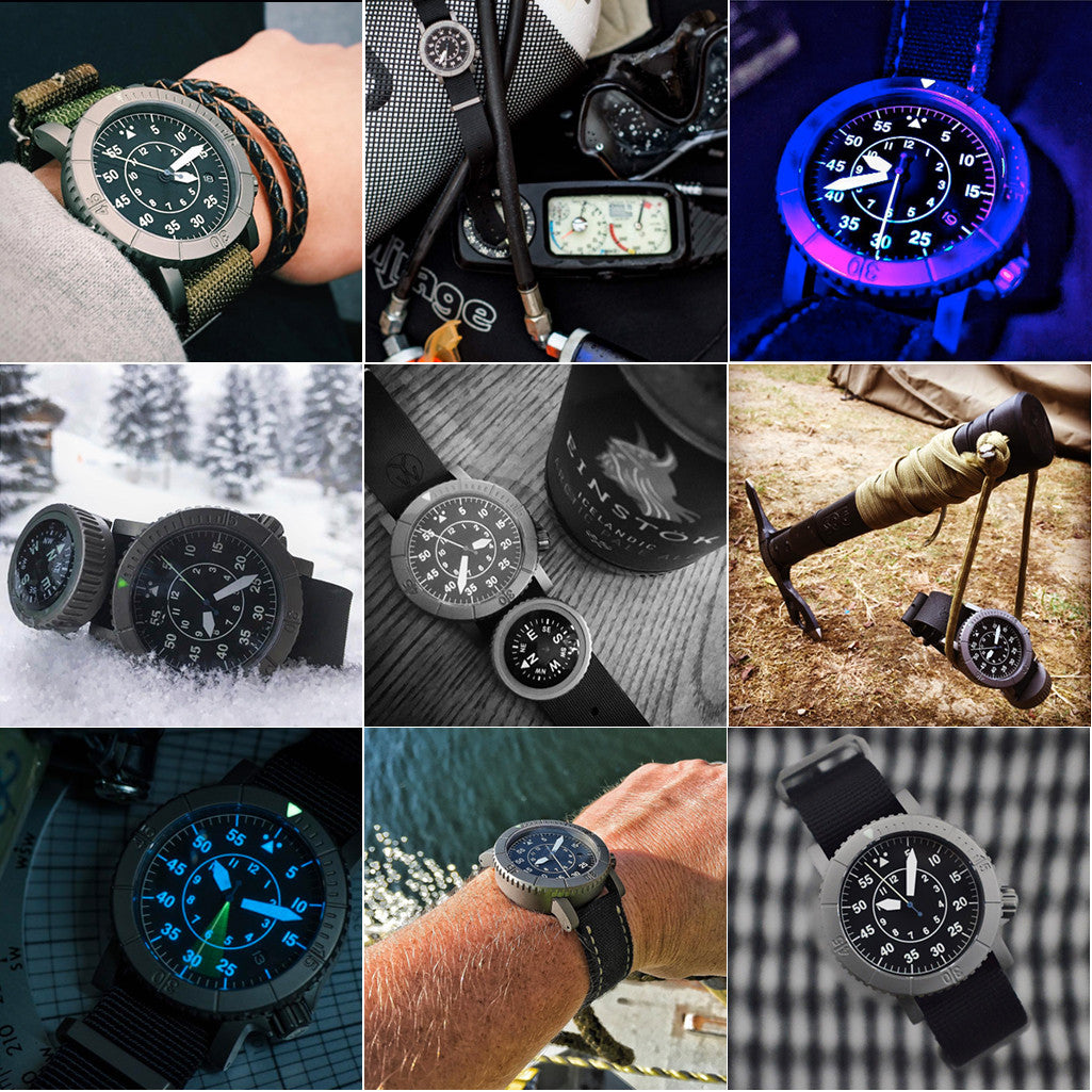 Redux & Co. Titanium COURG Type-B Pilot Flieger Watch
