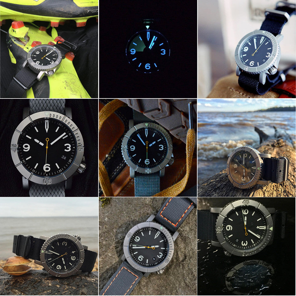 COURG Zero-Hour Titanium Pilot Diver Watch Hybrid