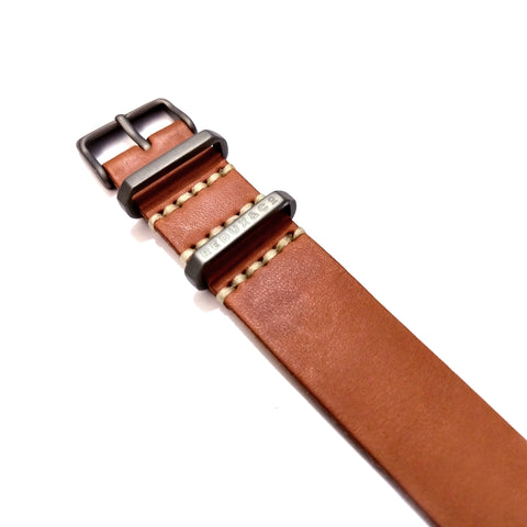 Clay Color Single Pass American Leather Strap 20mm