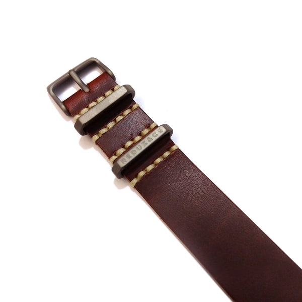 Rust Color Single Pass American Leather Strap 20mm