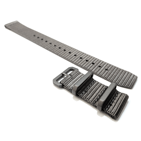 Ballistic Nylon Two Piece Strap: Titanium 20mm