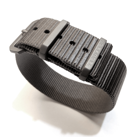 Ballistic Nylon Single Pass Strap: Titanium 20mm