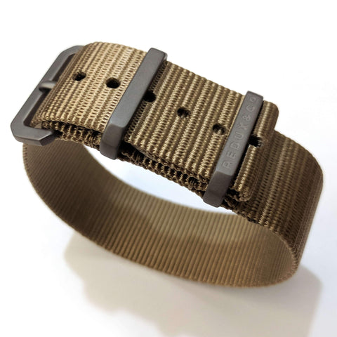 Ballistic Nylon Single Pass Strap: Desert 20mm