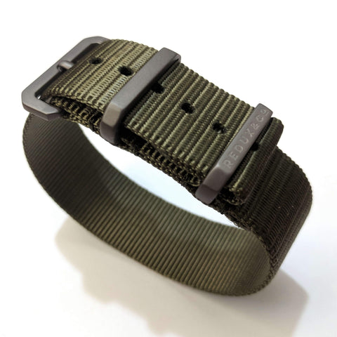 Ballistic Nylon Single Pass Strap: Olive Drab 20mm