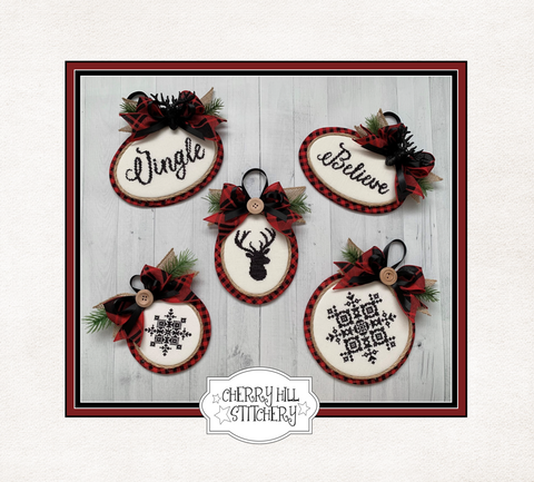 PDF ~ Cherry Hill Stitchery ~ Christmas Ornaments I PDF