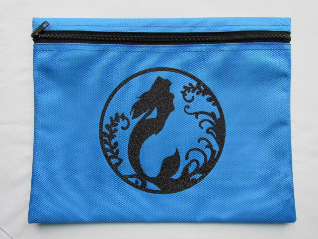 Mermaid Silhouette ~ Glitter Project Bag