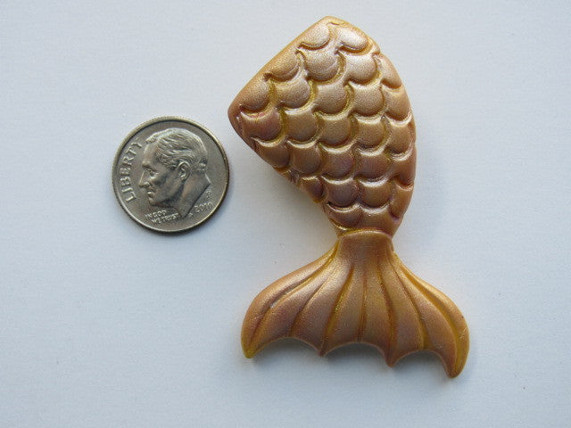 Needle Minder ~  Mermaid Tail - Gold (Clay) ONE OF A KIND!