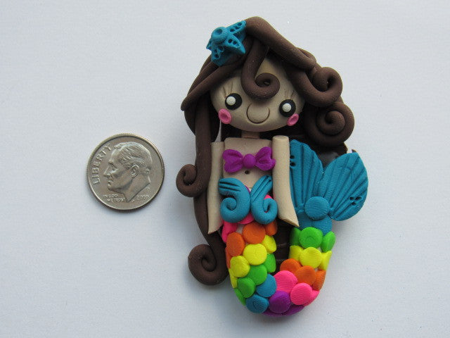 Needle Minder ~  Colorful Mermaid (Clay)