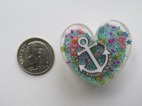 Needle Minder ~ Sea Treasures Anchor Heart - ONE OF A KIND!