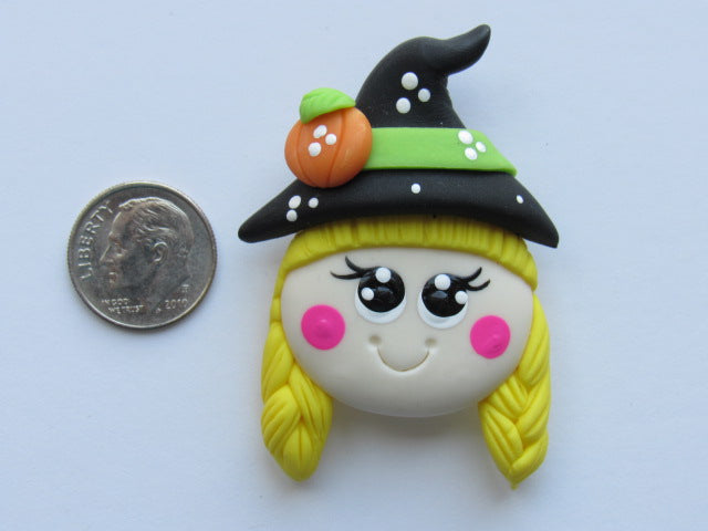 Needle Minder ~ Trixie Witchie (Clay) ONE OF A KIND