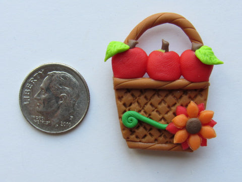 Needle Minder - Fall Basket #1 (Clay)