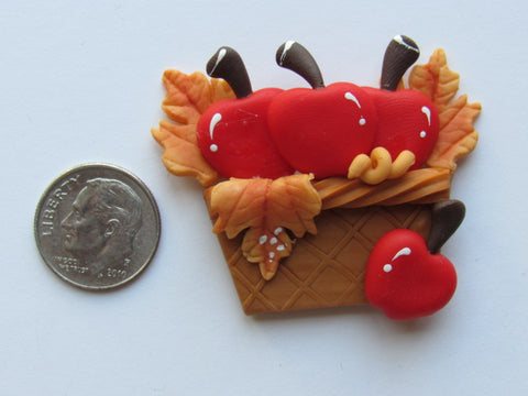 Needle Minder - Basket of Apples (Clay)