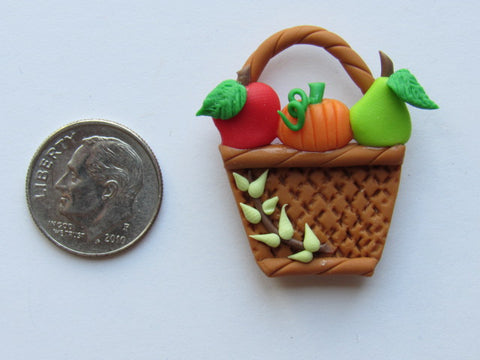 Needle Minder - Fall Basket #3 (Clay)