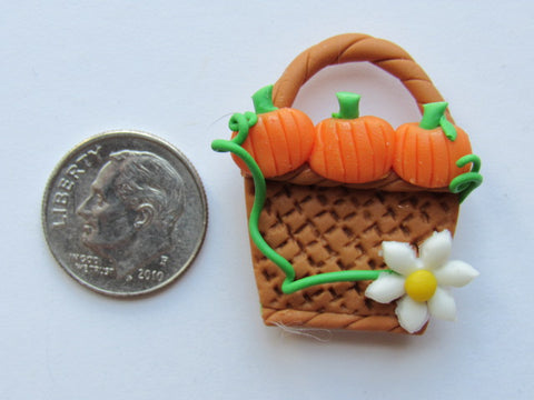Needle Minder - Pumpkin Basket (Clay) SPECIAL PRICE!!!