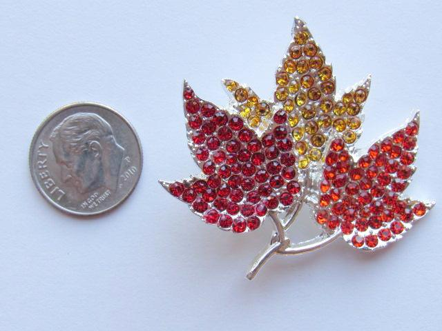 Needle Minder ~ Rhinestone Fall Leaves