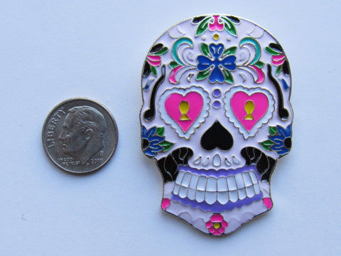 Needle Minder ~ Sugar Skull (Matching Bling Floss Ring available!)