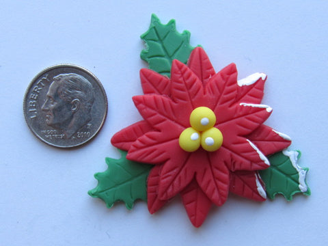 Needle Minder ~ Poinsettia (Clay)
