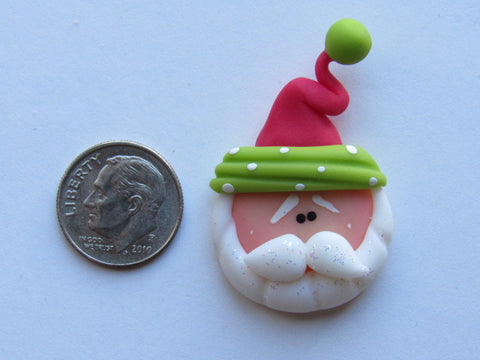 Needle Minder ~ Cutie Santa (Clay)