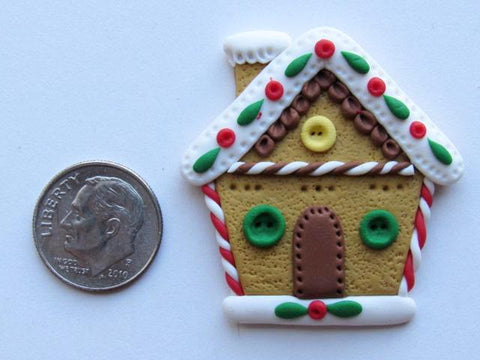 Needle Minder ~ Gingerbread House (Clay)