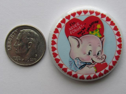 "1.25"" Button Magnet ~ Vintage Valentine's #7 - Never Forget"