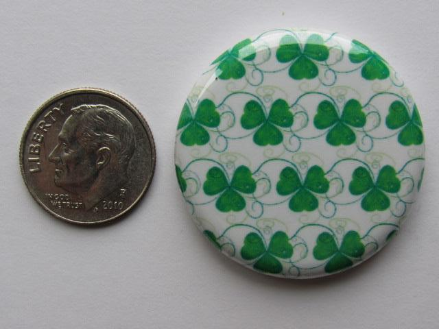 "1.25"" Button Magnet ~ Shamrocks #4"
