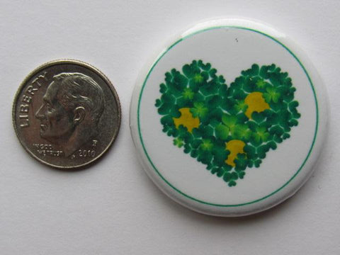 "1.25"" Button Magnet ~ Shamrock Heart"