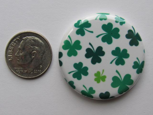"1.25"" Button Magnet ~ Shamrocks #3"