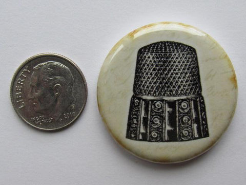 "1.25"" Button Magnet ~ Vintage Thimble"