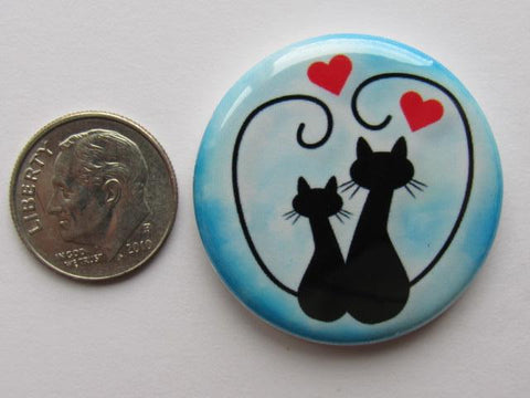 "1.25"" Button Magnet ~ Cat #7"