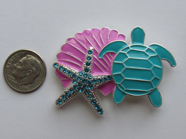 Needle Minder - Turtle, Shell & Starfish - ONE OF A KIND!