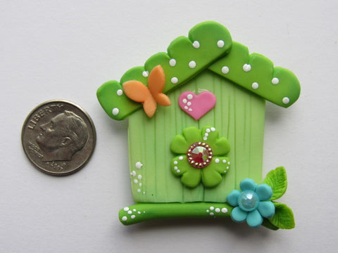 Needle Minder - Cute Birdhouse (Clay)