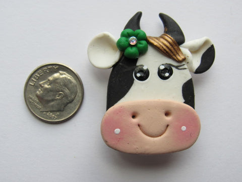 Needle Minder - Brenda Bovine (Clay) Flower colors vary!
