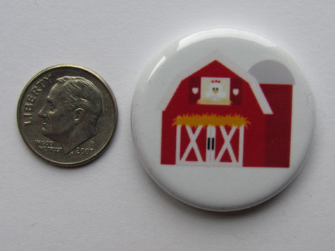 "1.25"" Button Magnet ~ Red Barn"