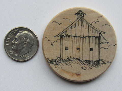Michelle Palmer Needle Minder ~ Old Barn A2 (One of a Kind!)