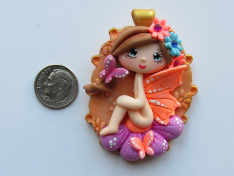 Needle Minder - Butterfly Fairy (Clay)  ONE OF A KIND!