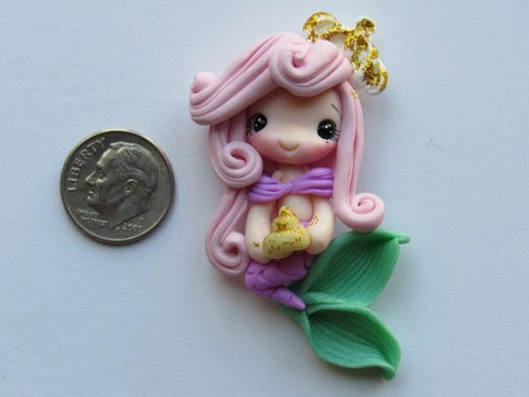 Needle Minder - Mermaid w/Crown (Clay)