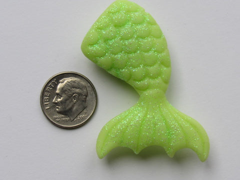Needle Minder ~  Mermaid Tail - Bright Green Glitter (Clay) ONE OF A KIND!